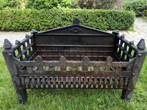 CAST IRON FIREPLACE INSERT GRATE FIRE PIT BONFIRE GRILL