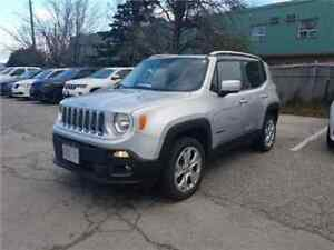 2015 Jeep Renegade Limited SKY Power Sunroof, Navigation, Leathe
