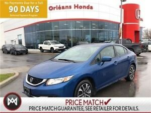 2015 Honda Civic EX, BLUETOOTH,HEATED SEATS, SUNROOF,BACK UP CAM
