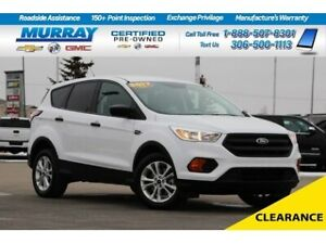 2017 Ford Escape S 4WD*REAR CAMERA,REMOTE START*