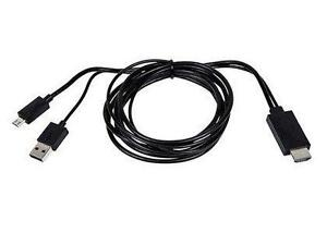 MHL HDMI Cable Adapter for Android Phones and Tablets - Black