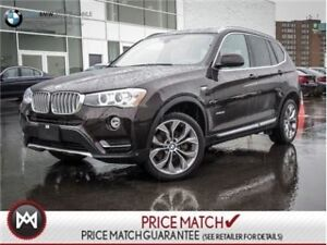 2016 BMW X3 PREMIUM ENHANCED, AWD, NAVIGATION