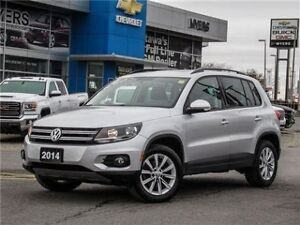 2014 Volkswagen Tiguan AWD, SUNROOF, LEATHER, COMFORTLINE!!