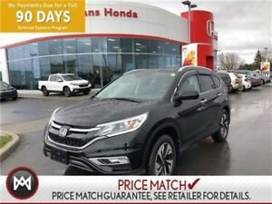 2015 Honda CR-V TOURING, POWER HEATED LEATHER SEATS, NAVIGATION,