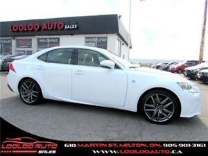 2014 Lexus IS 350 F-SPORT AWD LEATHER BLUETOOTH CERTIFIED