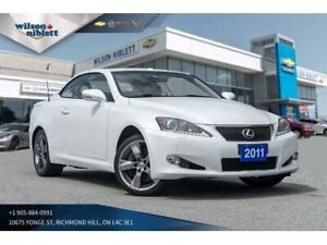 2011 Lexus IS350C 2DR Conv | LEATHER/ HEATED/ COOLED SEATS |