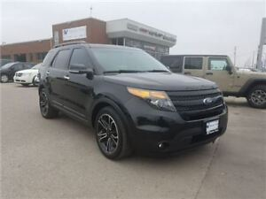 2014 Ford Explorer Sport Navigation,Leather, Dual DVD AND Sunroo