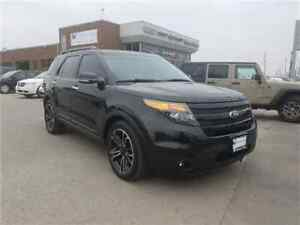 2014 Ford Explorer Sport Navigation, Leather, Dual DVD AND Sunro