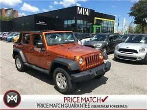 2011 Jeep Wrangler Unlimited LOCAL TRADE IN 4WHEEL DRIVE SPICY O