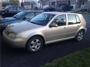 2003 Volkswagen Golf TDI  LOW KMS AUTOMATIC CERTIFIED NO RUST