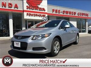 2013 Honda Civic Cpe LX -SPORTY COUPE! WARRANTY! A/C, CRUISE! BL