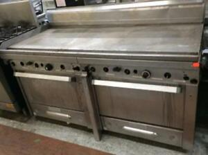 "Wow - Quest -58"" flat top gas grill with two ovens - custom made -"