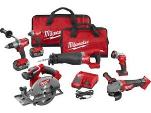 BRAND NEW and SEALED MILWAUKEE 2896-26 M18 FUEL 7-TOOL COMBO KIT