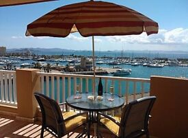 Luxury 2 bed apartment in La Manga, Spain - breathtaking marina views, beach, golf, water sports etc