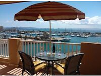 Luxury 2 bed apartment in La Manga, Spain - breathtaking marina views, beach, golf, water sports etc