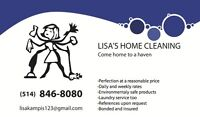 Lisa's Home Cleaning (BONDED)