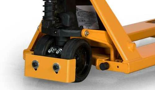 One Lift-Rite Debris Diverter Foot Guard Manual Pallet Jack Safety Device Yellow