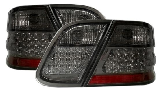 ALL SMOKED LED REAR LIGHTS FOR MERCEDES CLK W208 MODEL 03/1997-04/2002