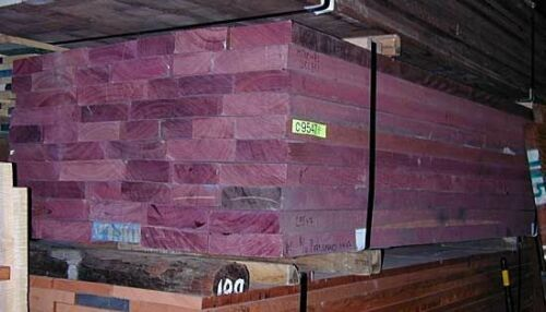 10 BOARD FEET 8/4 EXOTIC PURPLEHEART LUMBER WOOD FAS GRADE