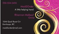 Need a great cleaning service call Maid2Order