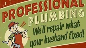 CLOGGED DRAIN?! ** LICENSED PLUMBER AVAILABLE!! ** Peterborough Peterborough Area image 1