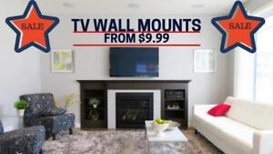 $9.99 Boxing Week SALE LCD/LED Flat or Curved TV Wall Mount Fixed/Tilt/Full Motion/Corner/Projector Mount