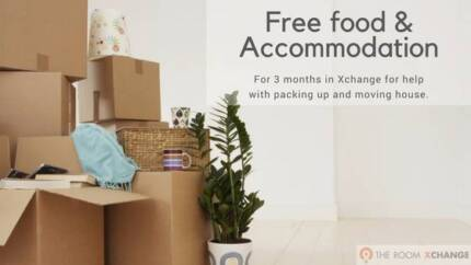 Free food & accommodation for 3 mths to help pack up & move house