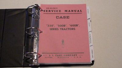 Case 350500b600b Tractor Dealer Service Manual Repair Shop Book New Wbinder