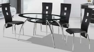 glass dining table set (GL923)