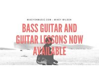 Bass Guitar and Guitar Lessons