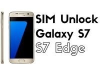 Samsung Galaxy S7 Edge Unlock & S6 Edge, S6, S5 Unlock Service While you wait