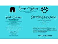 Home and Roam. House Cleaning and Pet Services/Dog Walking in the Ayr/Prestwick area. £10 per hour