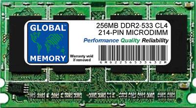 256mb Ddr2 533mhz Pc2-4200 214-pin Microdimm Memoria RAM per Portatili/Computer