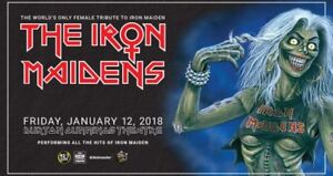 **BELOW COST** 2 tickets to The Iron Maidens $70, save $33