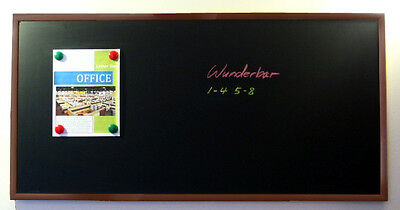 Handsome 48 X 24 Framed Magnetic Black Chalk Board Dark Frame Blackboard