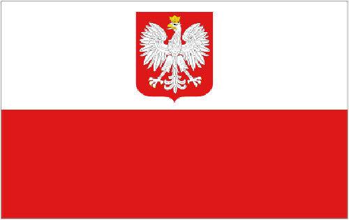 POLAND EAGLE FLAG 5' x 3' Polish State Crest Flags Europe