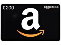 £200 amazon gift card UNUSED