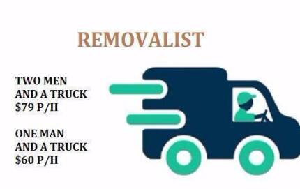 2 Removalists and a truck for $75 Per Hour