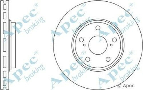 1x OE Quality Replacement Front Axle Apec Vented Brake Disc 5 Stud 296mm Single