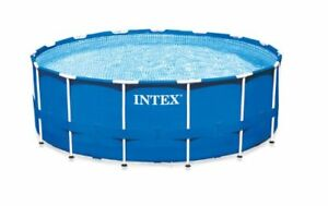 """Intex 24' x 52"""" Metal Frame Above Ground Pool w/Filter and cover"""