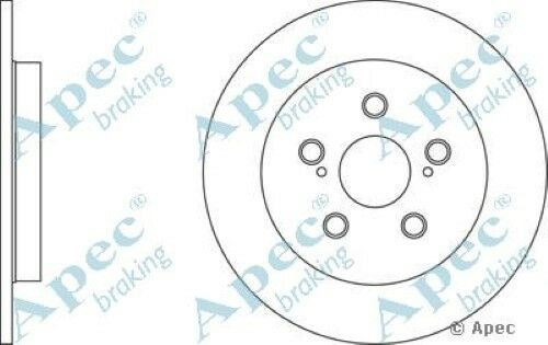 1x OE Quality Replacement Rear Axle Apec Solid Brake Disc 5 Stud 259mm - Pair