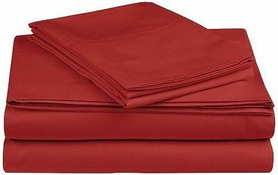Pinzon Ultra-Soft 300 Thread Count Cotton Percale Sheets in Rosewood