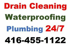 Plumbing and Drain Services 416-455-1122 REASONABLE RATES Oakville / Halton Region Toronto (GTA) image 1
