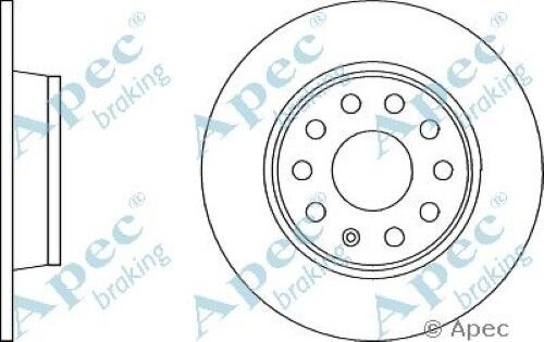 1x OE Quality Replacement Rear Axle Apec Solid Brake Disc 5 Stud 272mm - Single