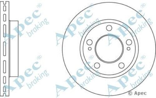 1x OE Quality Replacement Front Axle Apec Vented Brake Disc 5 Stud 294mm Single