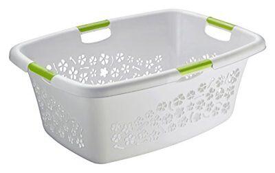 rotho flowers laundry basket cool grey 50