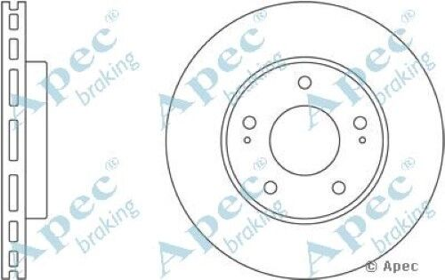 1x OE Quality Replacement Front Axle Apec Vented Brake Disc 5 Stud 276mm Single
