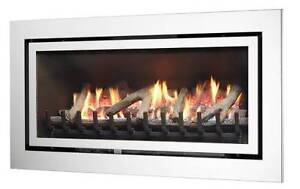 Brand new Slimline Illusion Mystique Gas log fire Stainless Steel Berwick Casey Area Preview