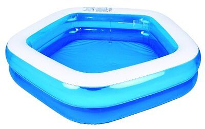 Kiddie Pool Giant Inflatable Family And Kids Pentagon Pool Almost 7Ft Wide 79In