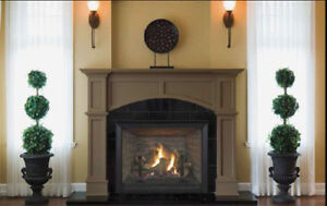"""Beautiful High end Lennox Envy 45"""" fireplace with Logset"""